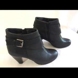 Coach And Four Black Leather Booties